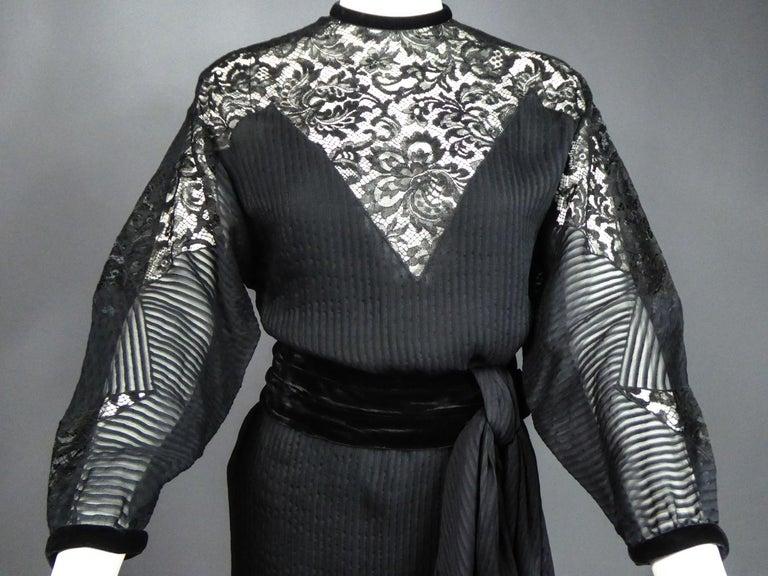 A Christian Dior-Marc Bohan Little Black Dress numbered 15843 Spring Summer 1982 For Sale 5