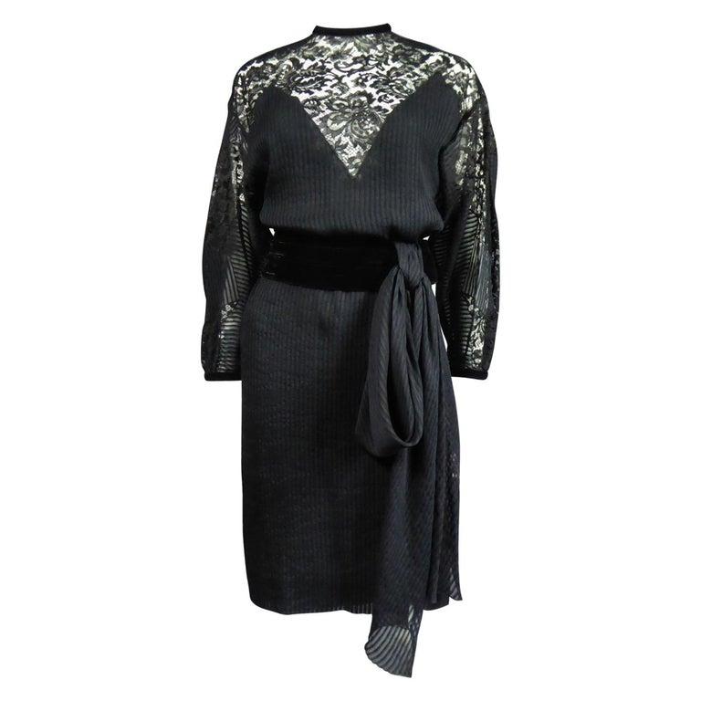 A Christian Dior-Marc Bohan Little Black Dress numbered 15843 Spring Summer 1982 For Sale