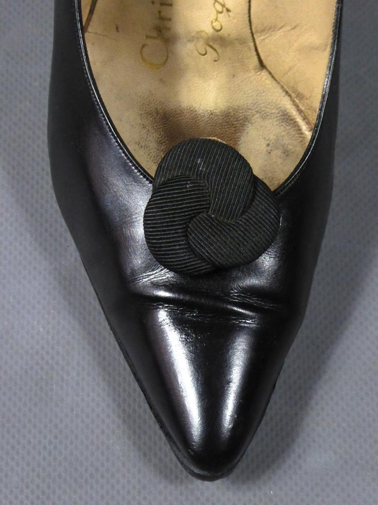 A Christian Dior pair of evening heel by Roger Vivier Circa 1960 For Sale 5