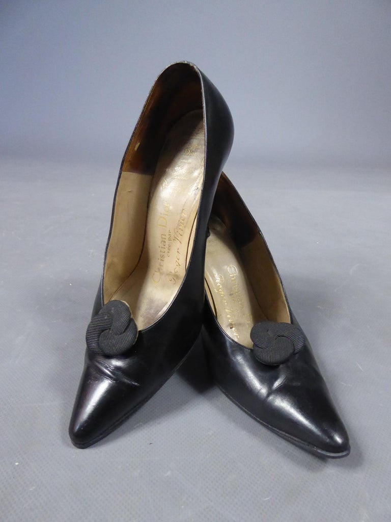 A Christian Dior pair of evening heel by Roger Vivier Circa 1960 For Sale 7