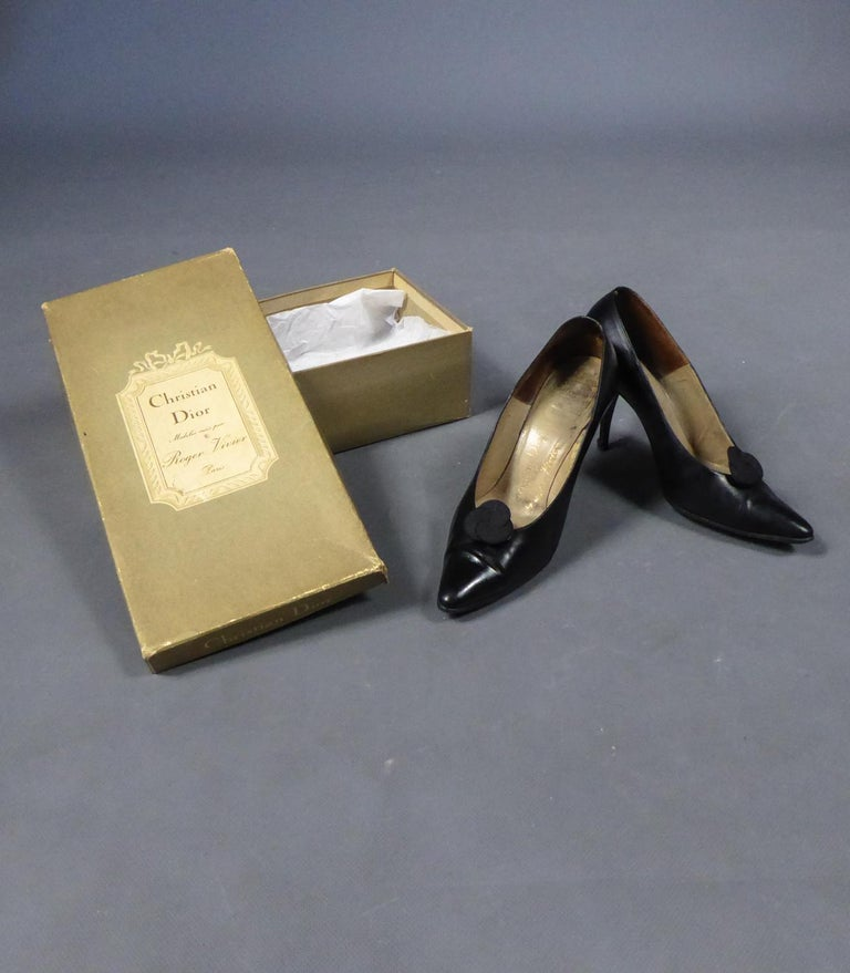 A Christian Dior pair of evening heel by Roger Vivier Circa 1960 For Sale 8