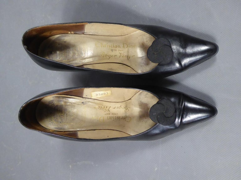 A Christian Dior pair of evening heel by Roger Vivier Circa 1960 For Sale 11