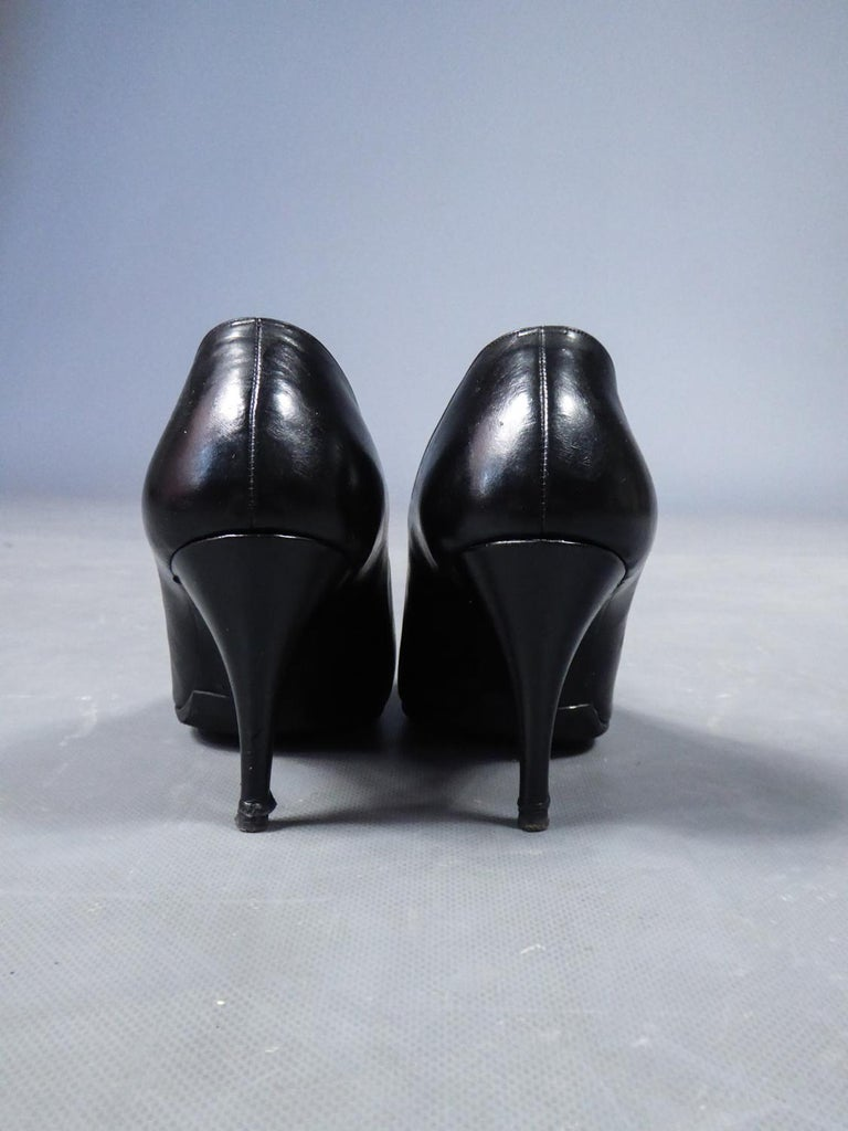 Black A Christian Dior pair of evening heel by Roger Vivier Circa 1960 For Sale