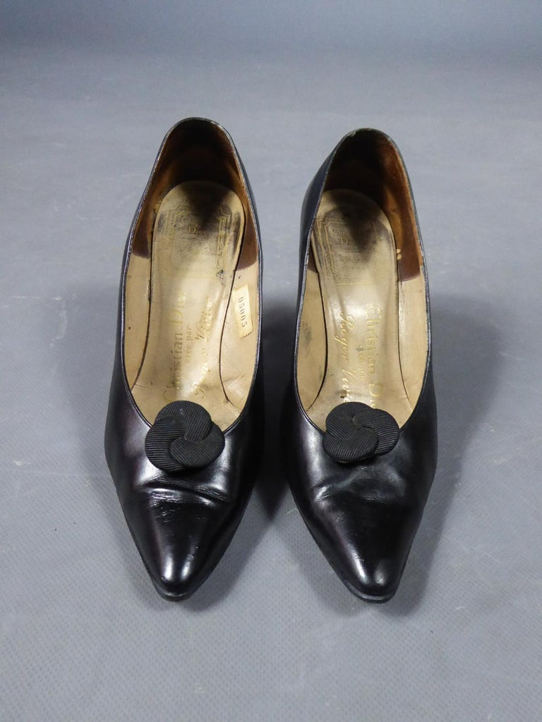 A Christian Dior pair of evening heel by Roger Vivier Circa 1960 For Sale 2