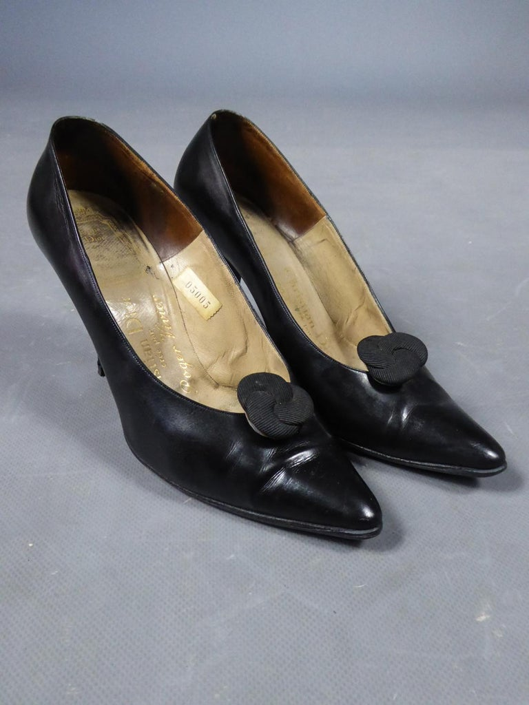 A Christian Dior pair of evening heel by Roger Vivier Circa 1960 For Sale 3