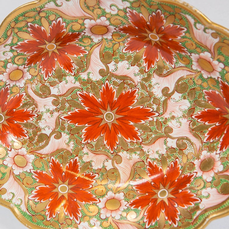 Regency Christmas Dish Made by Minton in England circa 1805 For Sale