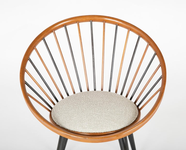 Mid-Century Modern Circle Chair Designed by Yngve Ekstrom For Sale