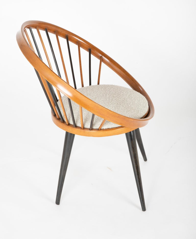 Mid-20th Century Circle Chair Designed by Yngve Ekstrom For Sale