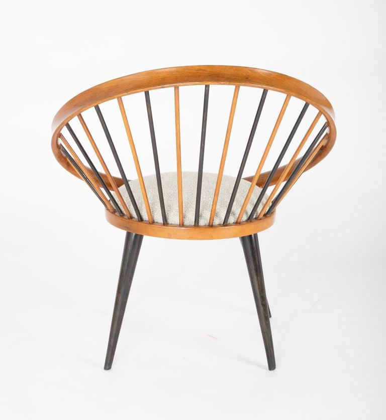 Birch Circle Chair Designed by Yngve Ekstrom For Sale