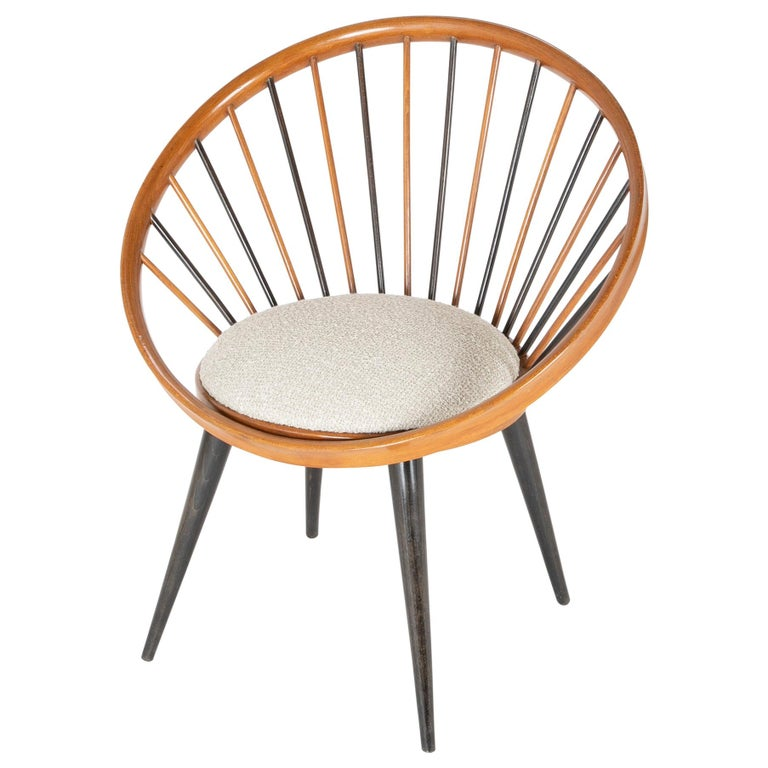 Circle Chair Designed by Yngve Ekstrom For Sale