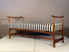 A Classic Asian Style Bench in Walnut