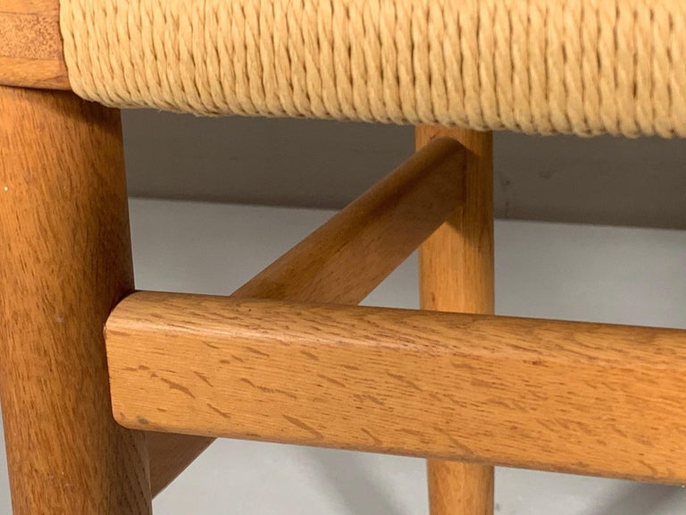 Classic Børge Mogensen Oak and Papercord Chair For Sale 1