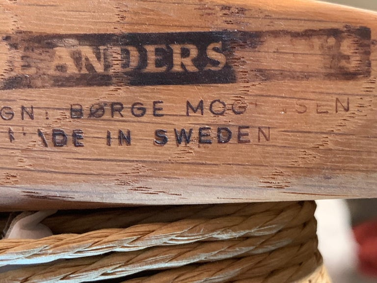 Classic Børge Mogensen Oak and Papercord Chair For Sale 2