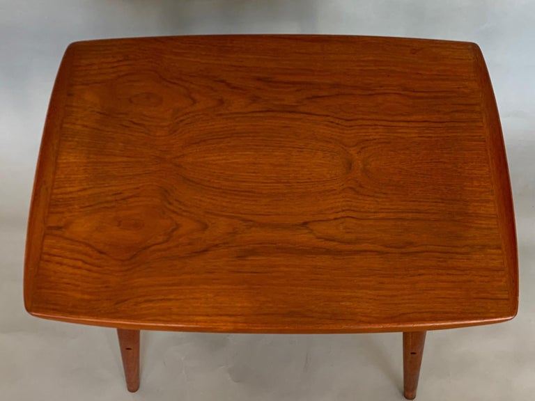 Mid-20th Century Classic Danish Side Table by Arne Hovmand-Olsen for Mogens Kold in Teak For Sale