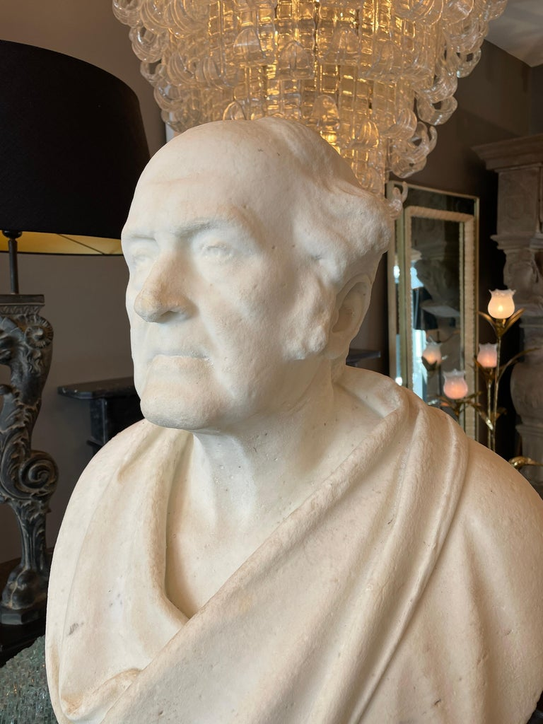 Classical Antique Statuary Marble Bust In Good Condition For Sale In London, GB