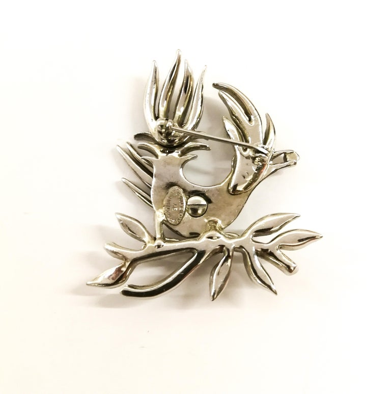 A clear paste 'bird with diamond' brooch, Christian Dior by Mitchel Maer, 1950s For Sale 1