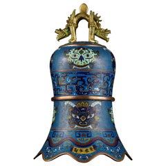 Cloisonné Enamel Bell, China, Qing Dynasty, 18th-19th Century