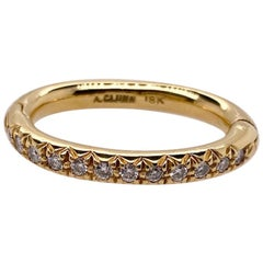 A. Clunn Gold and Diamond Scarf Ring