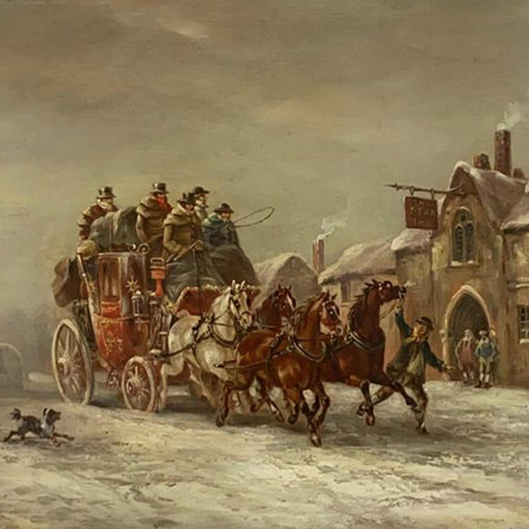 'A Coach in the Snow Outside an Inn'. 