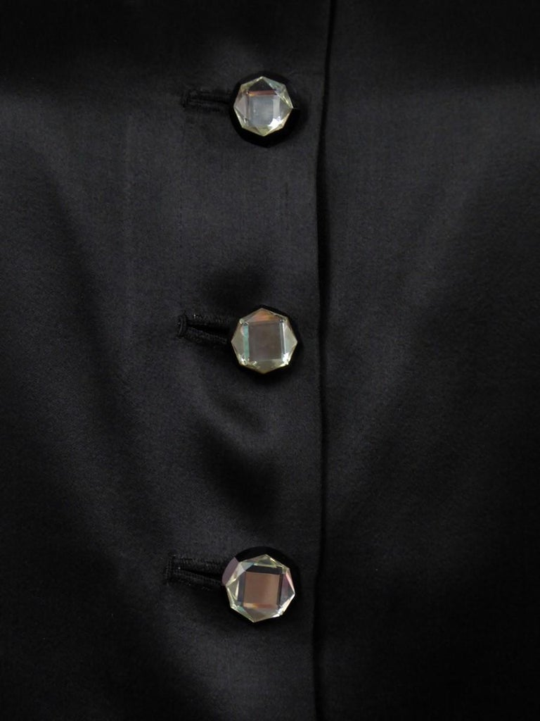 A Coco Chanel (attributed to) Tuxedo Satin Skirt Couture Suit - Paris Circa 1933 For Sale 7