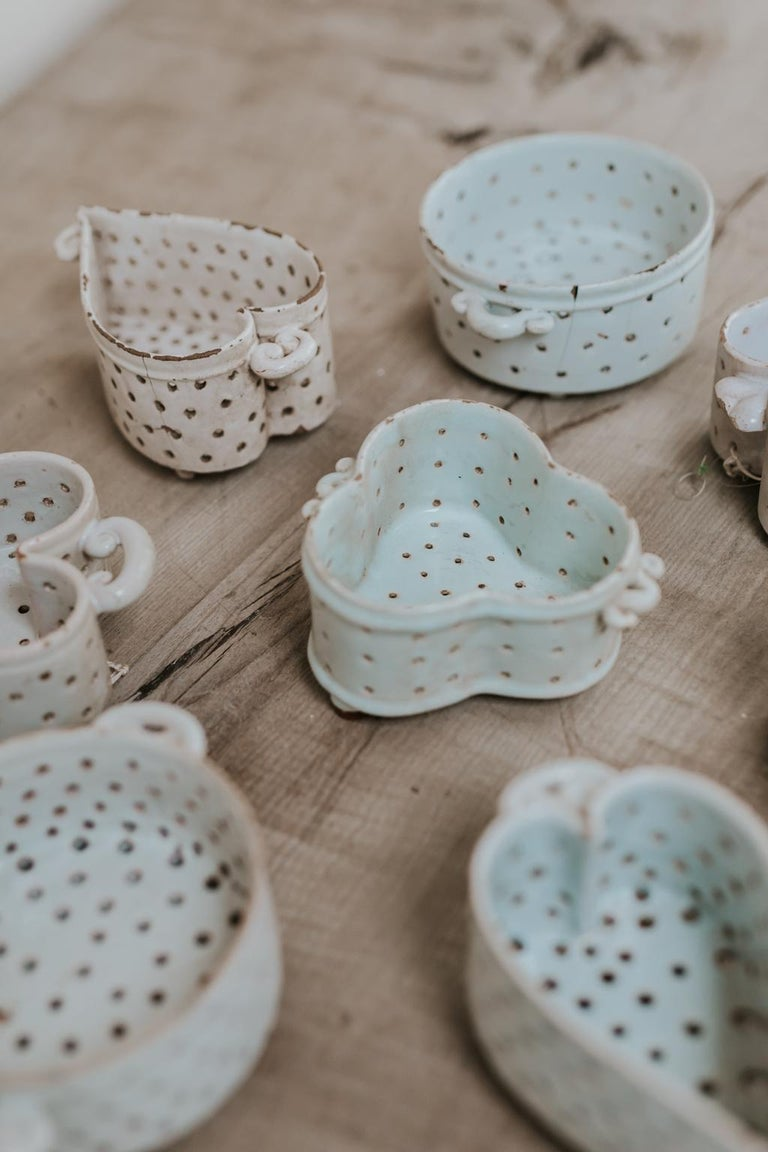 18th Century Collection of Porcelain Cheese Moulds For Sale