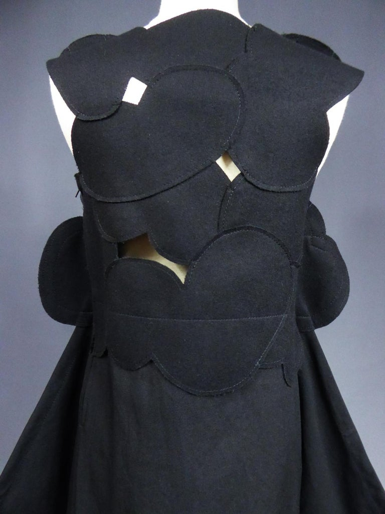 A Comme des Garcons Junya Watanabe Black Woollen Chasuble Dress Circa 2000 For Sale 8