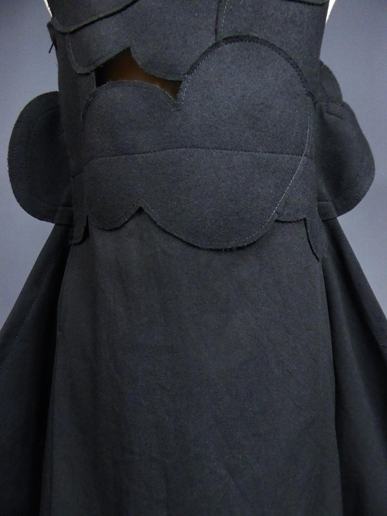 A Comme des Garcons Junya Watanabe Black Woollen Chasuble Dress Circa 2000 For Sale 10