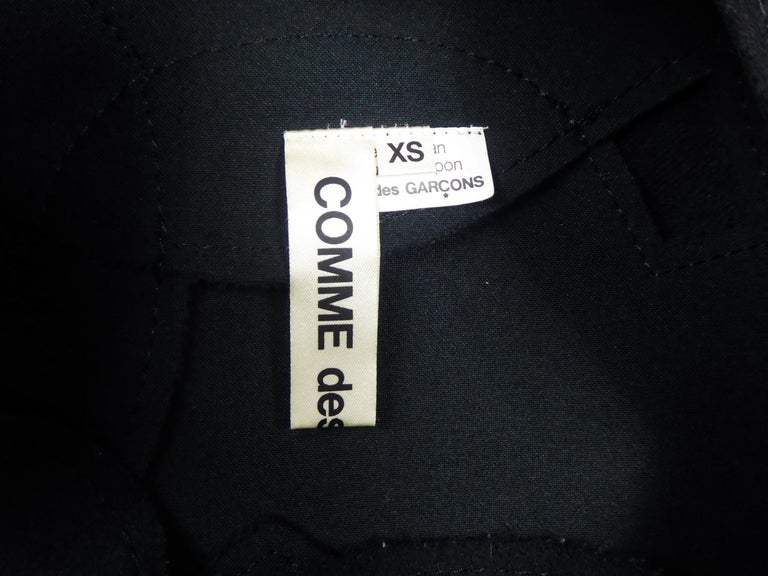 A Comme des Garcons Junya Watanabe Black Woollen Chasuble Dress Circa 2000 In Excellent Condition For Sale In Toulon, FR