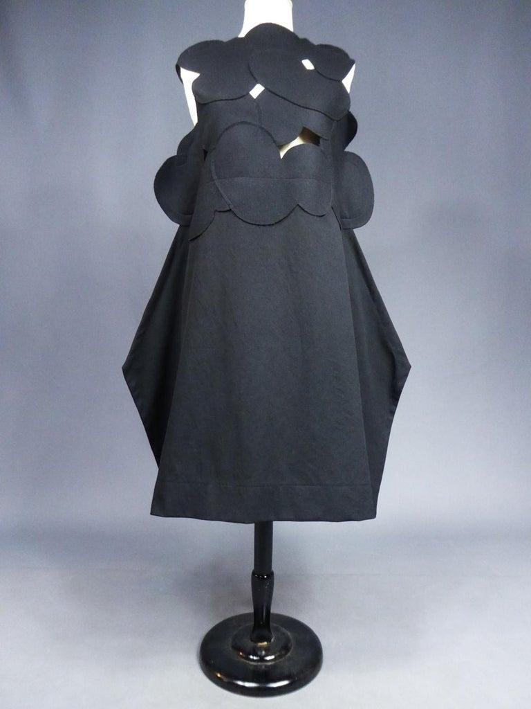 Women's A Comme des Garcons Junya Watanabe Black Woollen Chasuble Dress Circa 2000 For Sale