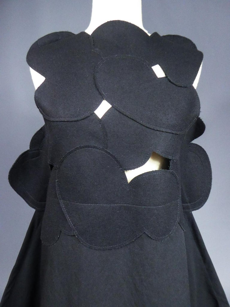 A Comme des Garcons Junya Watanabe Black Woollen Chasuble Dress Circa 2000 For Sale 1