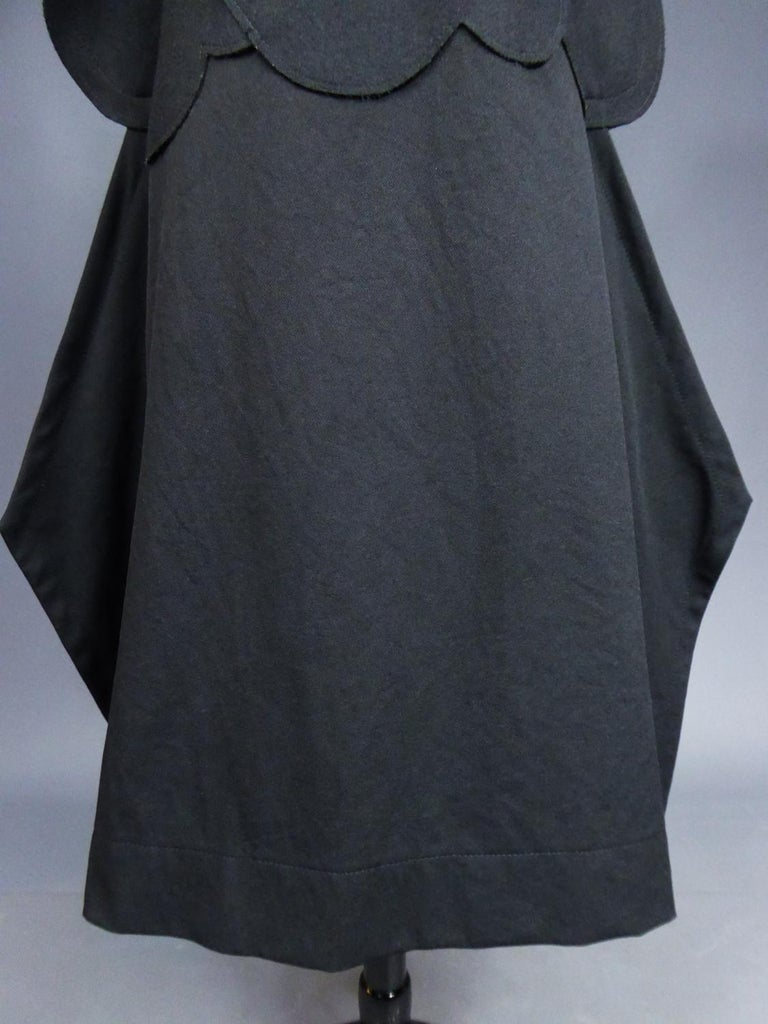 A Comme des Garcons Junya Watanabe Black Woollen Chasuble Dress Circa 2000 For Sale 2