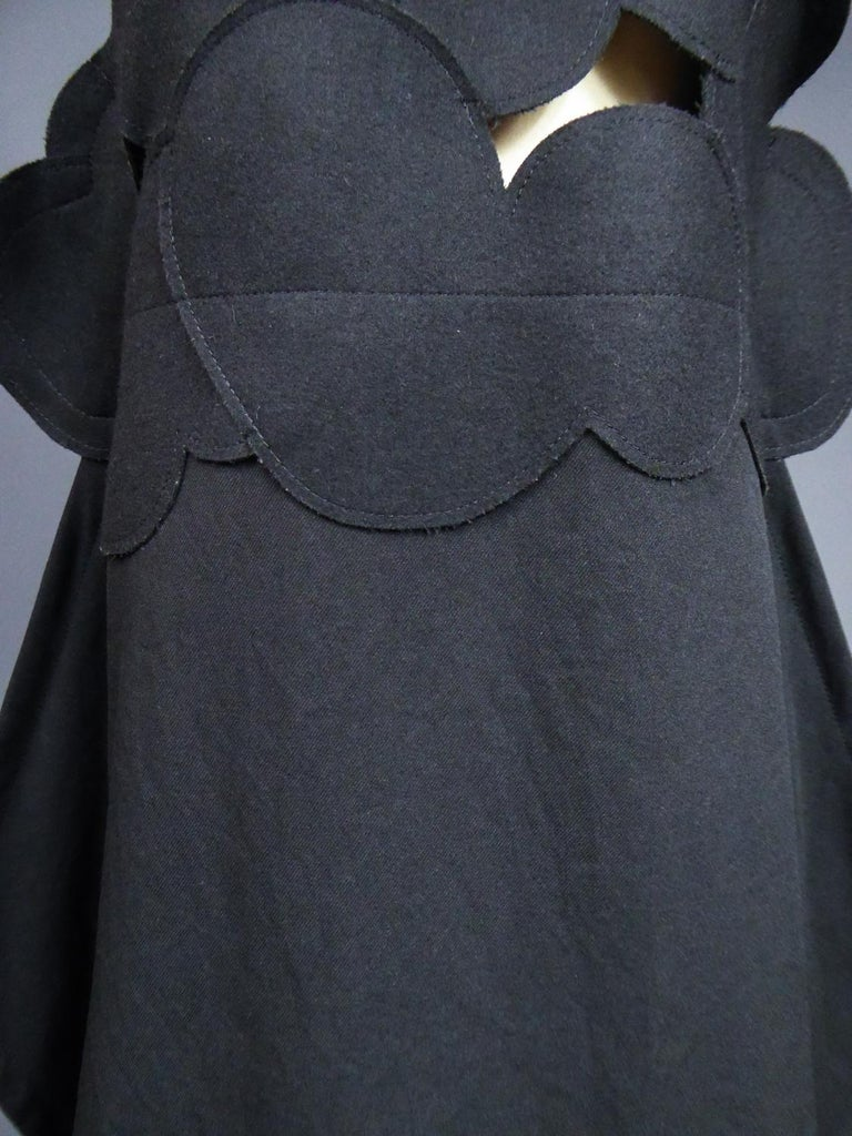 A Comme des Garcons Junya Watanabe Black Woollen Chasuble Dress Circa 2000 For Sale 3