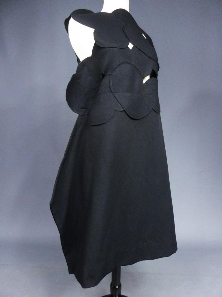 A Comme des Garcons Junya Watanabe Black Woollen Chasuble Dress Circa 2000 For Sale 4