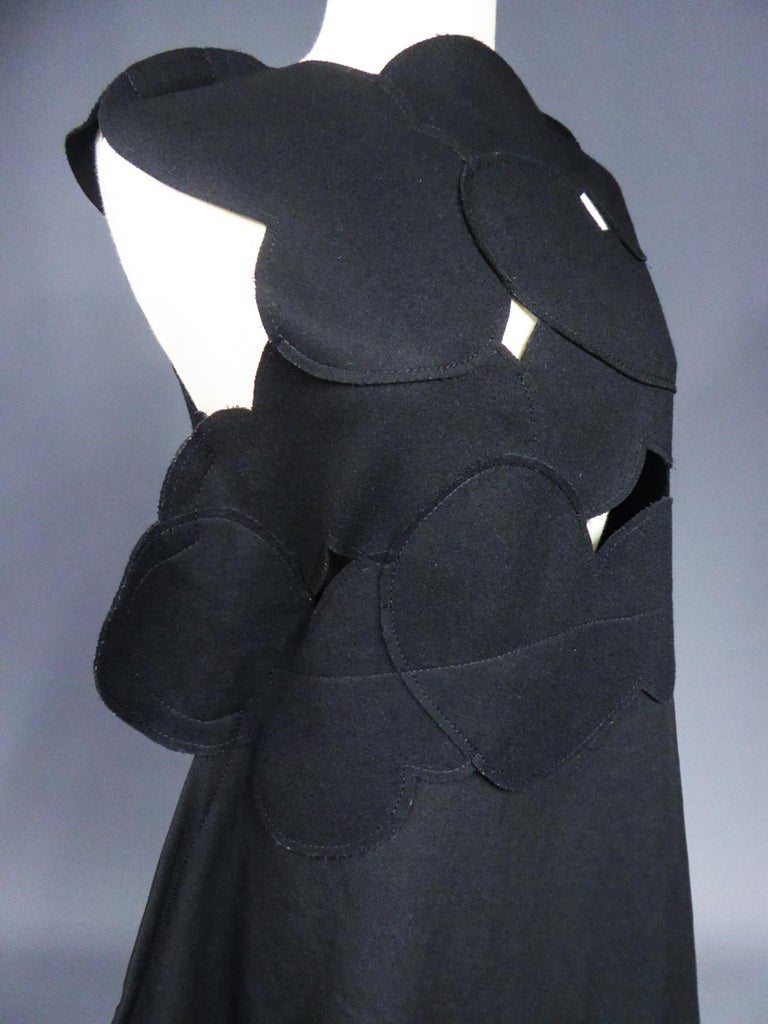 A Comme des Garcons Junya Watanabe Black Woollen Chasuble Dress Circa 2000 For Sale 5