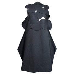 A Comme des Garcons Junya Watanabe Black Woollen Chasuble Dress Circa 2000