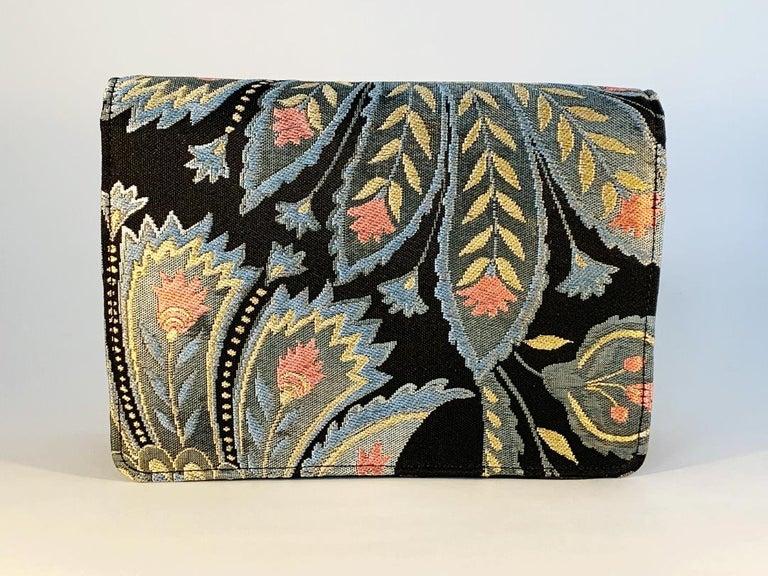 Black A contemporary 'Akira' japanese brocade melissa bag (model)  For Sale