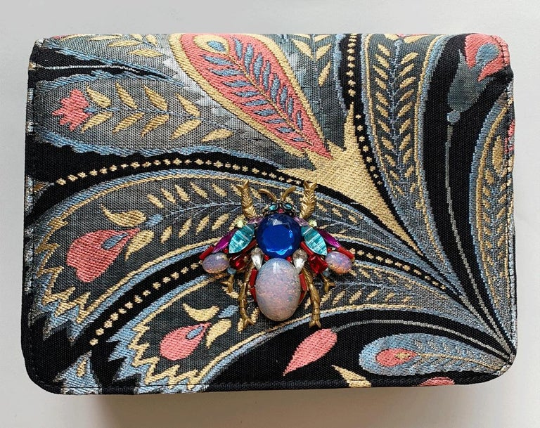 A contemporary 'Akira' japanese brocade melissa bag (model)  For Sale 1