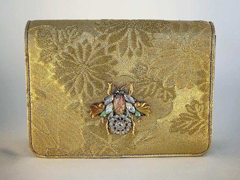 Brown A contemporary 'Ameratsu' japanese brocade melissa bag (model)  For Sale
