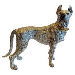 Vienna Bronze Sculpture of Great Dane, 20th Century