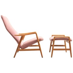 'Contour' Reclining Chair with Ottoman, Alf Svensson