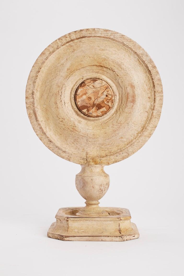 Italian Convex Round Mirror, Italy, 1870