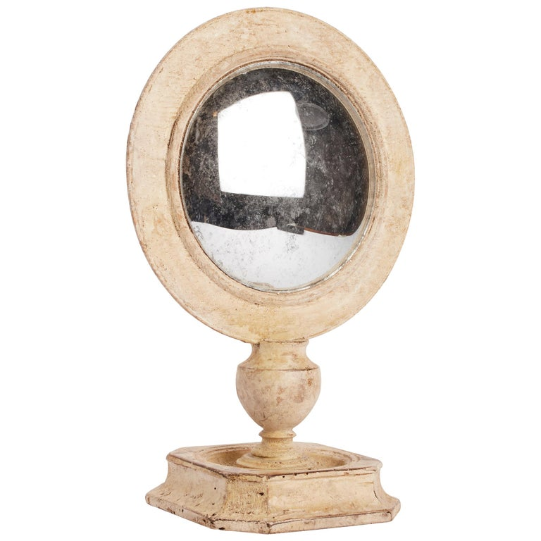 Convex Round Mirror, Italy, 1870