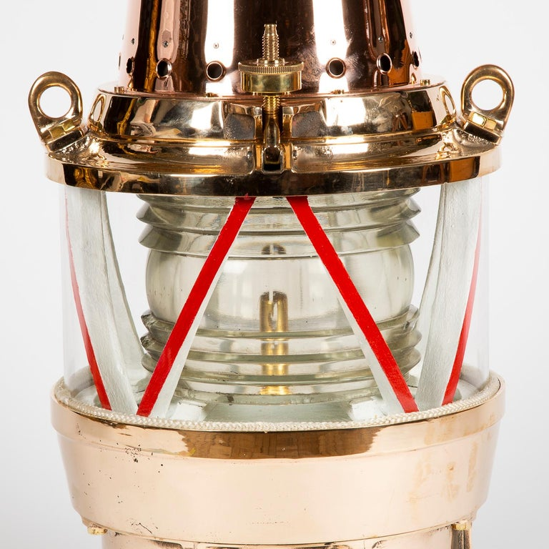 Industrial Copper and Brass Marine Buoy Light For Sale