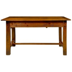 Country French 18th Century Solid Oak Center/Utility Table