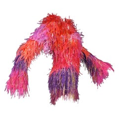 A Couture Givenchy Tunic in Mohair and Ostrich Feathers - Fall Winter 2002