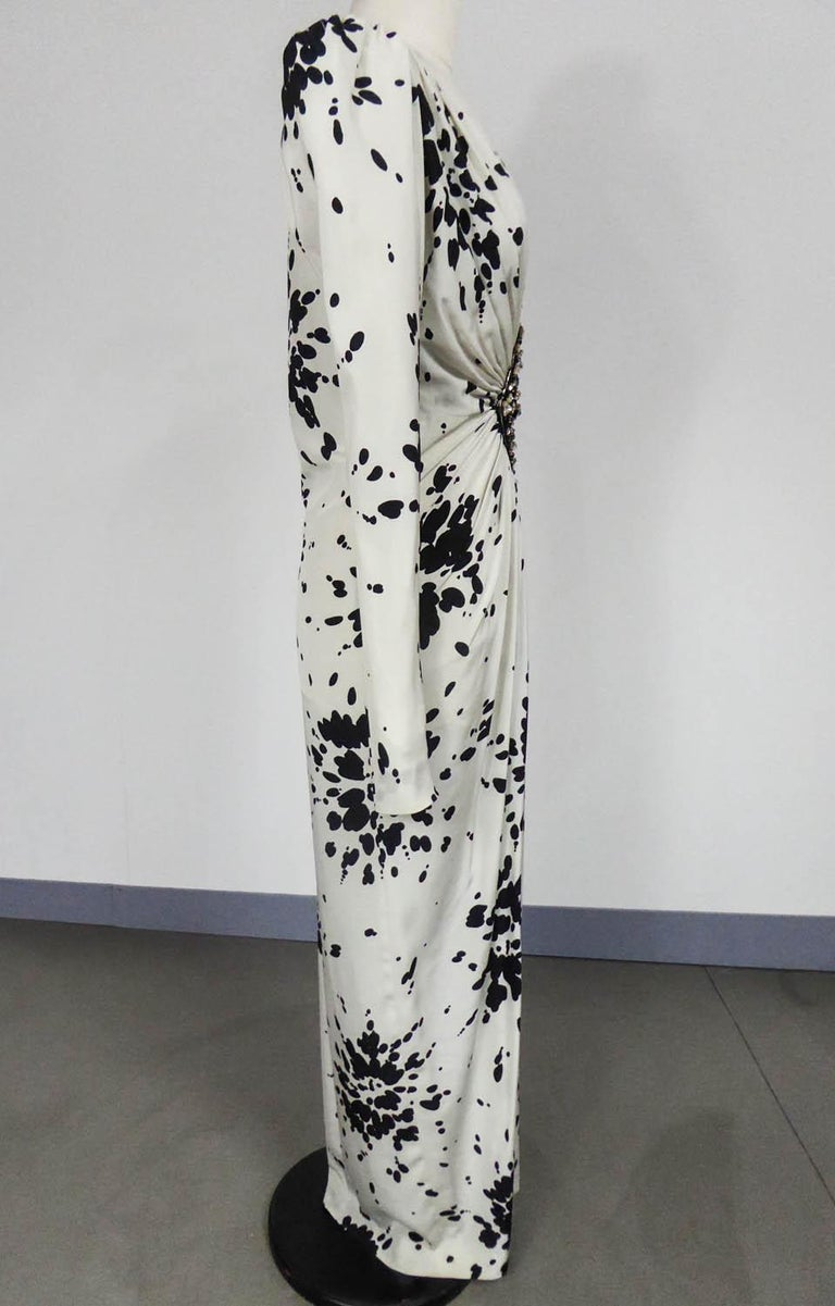 A Couture Yves Saint Laurent (attributed to) Evening Dress Circa 1984 For Sale 5