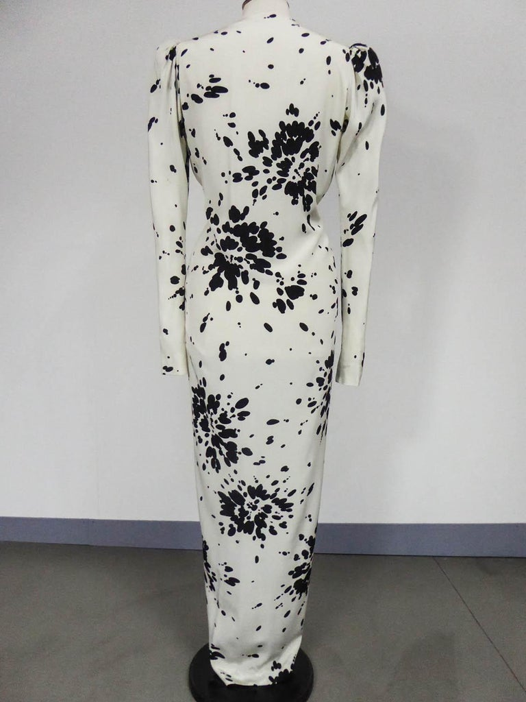 A Couture Yves Saint Laurent (attributed to) Evening Dress Circa 1984 For Sale 6