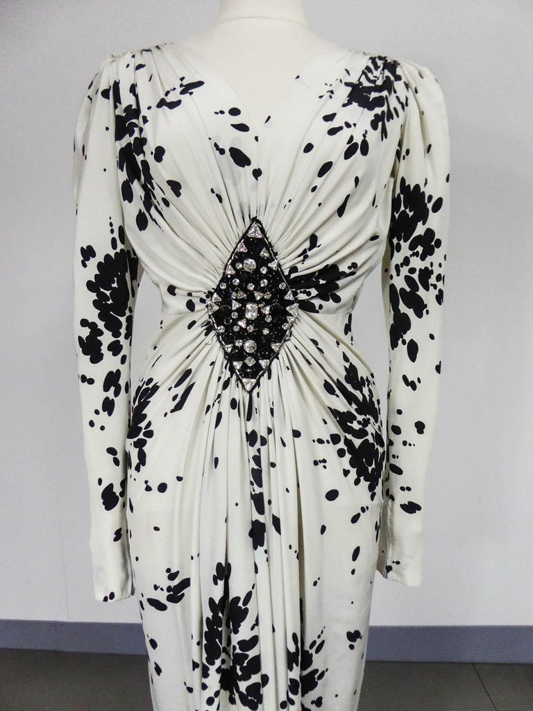Gray A Couture Yves Saint Laurent (attributed to) Evening Dress Circa 1984 For Sale