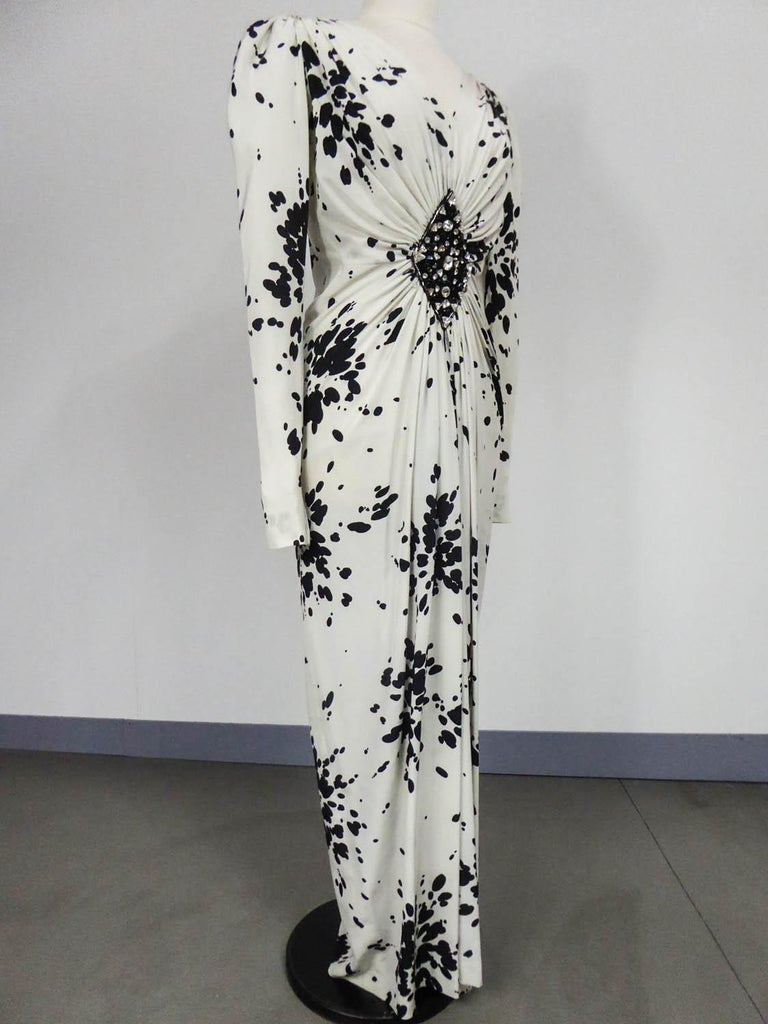 Women's A Couture Yves Saint Laurent (attributed to) Evening Dress Circa 1984 For Sale