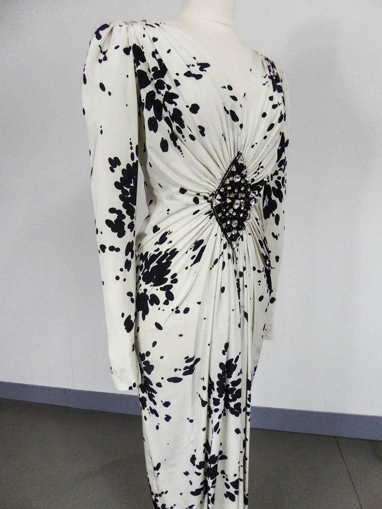A Couture Yves Saint Laurent (attributed to) Evening Dress Circa 1984 For Sale 1